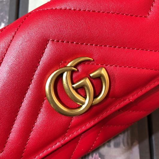 Gucci 443436 GG Marmont Continental Wallet Red - luxibagsmall