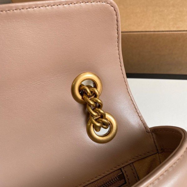 Gucci 443497 GG Marmont Matelassé shoulder Bag Light Pink - luxibagsmall