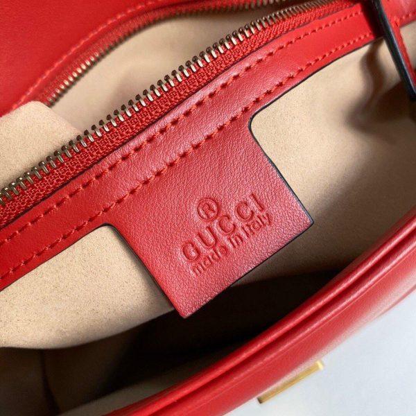 Gucci 443497 GG Marmont Matelassé Shoulder Bag Red - luxibagsmall