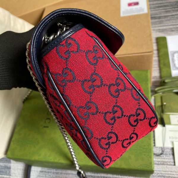 Gucci 443497 GG Marmont Multicolor small shoulder bag Red - luxibagsmall