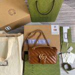 Gucci 446744 GG Marmont Matelassé Mini Bag Brown - luxibagsmall