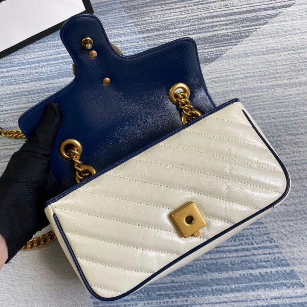 Gucci 446744 GG Marmont Matelassé Mini Bag Beige - luxibagsmall