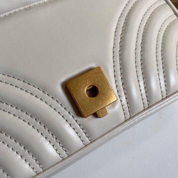 Gucci 446744 GG Marmont Matelassé Mini Bag White - luxibagsmall