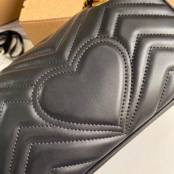 Gucci 446744 GG Marmont Matelassé Mini Bag Black - luxibagsmall