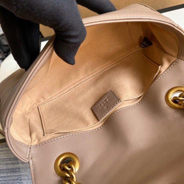 Gucci 446744 GG Marmont Matelassé Mini Bag Light Pink - luxibagsmall