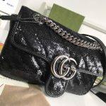 gucci-446744-gg-marmont-mini-shoulder-sequin-bag-black-6