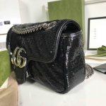 gucci-446744-gg-marmont-mini-shoulder-sequin-bag-black-8