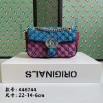 gucci 446744 gg marmont multicolor mini shoulder bag blue purple 1