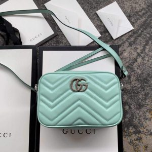 Gucci 448065 GG Marmont Matelassé Mini Bag Light Green - luxibagsmall