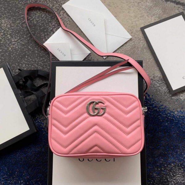 Gucci 448065 GG Marmont Matelassé Mini Bag Pink - luxibagsmall
