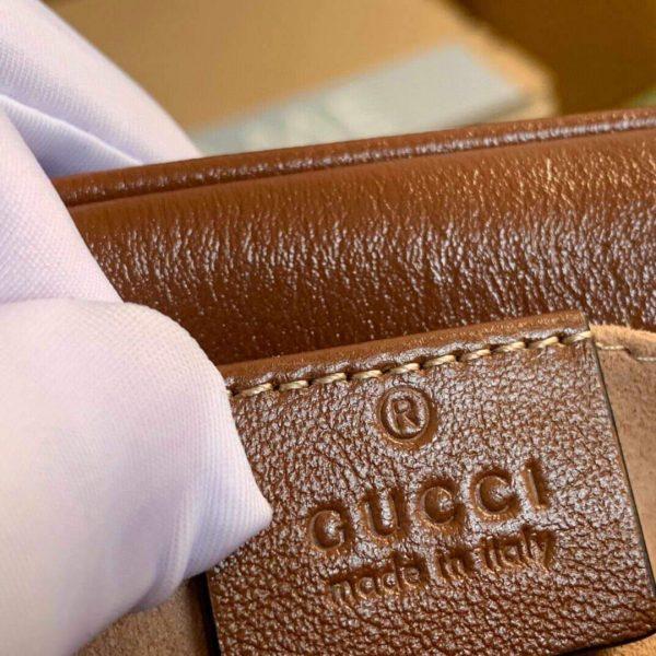 Gucci 448065 GG Marmont Matelassé Mini Bag Brown - luxibagsmall