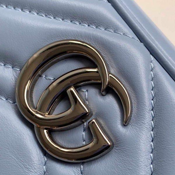 Gucci 448065 GG Marmont Matelassé Mini Bag Blue - luxibagsmall
