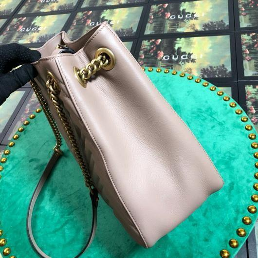 Gucci 453569 GG Marmont Matelassé Shoulder Bag Light Pink - luxibagsmall