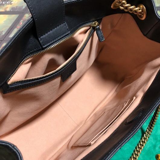 Gucci 453569 GG Marmont Matelassé Shoulder Bag Black - luxibagsmall