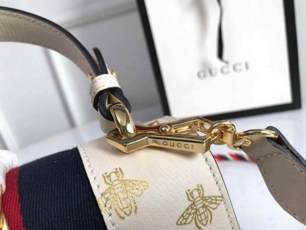 Gucci 470270 GG Sylvie Mini Shoulder Bag Beige - luxibagsmall