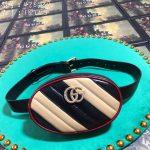 gucci 476434 gg marmont matelasse leather belt bag 28