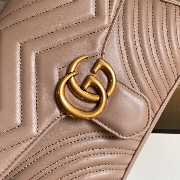 Gucci 498110 GG Marmont Small Top Handle Bag Light Pink - luxibagsmall