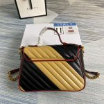 gucci-498110-gg-marmont-small-top-handle-bag-black-and-yellow-1