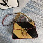 gucci-498110-gg-marmont-small-top-handle-bag-black-and-yellow-2