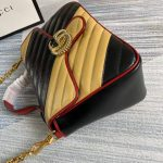 gucci-498110-gg-marmont-small-top-handle-bag-black-and-yellow-4
