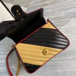 gucci-498110-gg-marmont-small-top-handle-bag-black-and-yellow-6