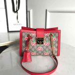 Gucci 498156 Padlock small GG Shoulder Bag Red - luxibagsmall
