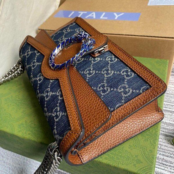 Gucci 499623 Dionysus GG Denim Small Shoulder Bag Brown - luxibagsmall