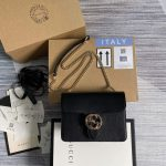 gucci 510304 interlocking black leather chain cross body bag 1