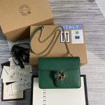 gucci 510304 interlocking green leather chain cross body bag 1 1