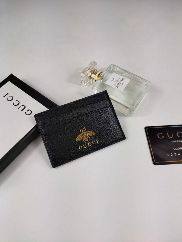 Gucci 523685 Men's card holders and coin cases Animalier leather card case - luxibagsmall