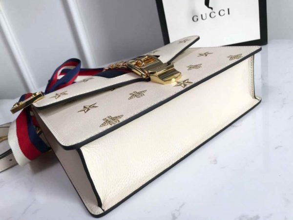 Gucci 524405 GG Sylvie Small Shoulder Bag Beige - luxibagsmall
