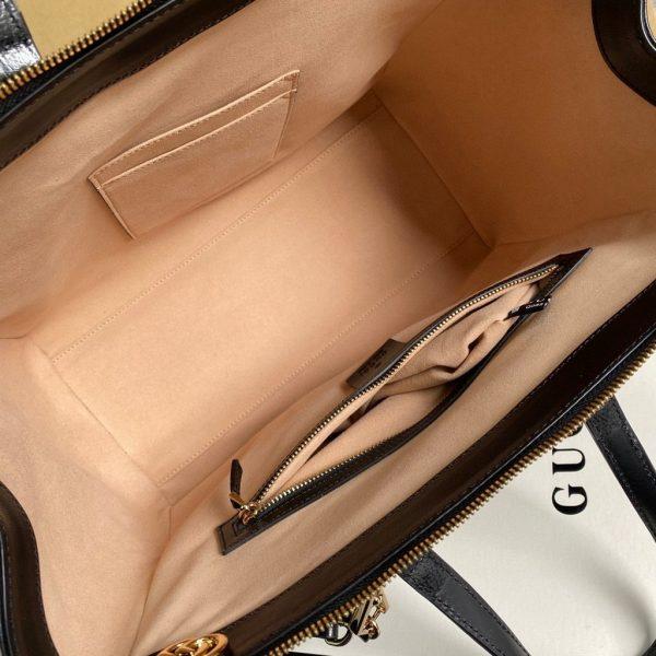 Gucci 524537 Gucci Ophidia GG Medium Tote Shoulder Bag Black - luxibagsmall
