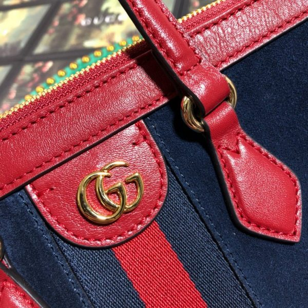 Gucci 524537 Gucci Ophidia GG Medium Tote Shoulder Bag Navy blue - luxibagsmall