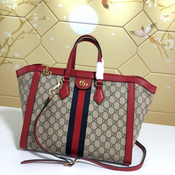 Gucci 524537 Ophidia GG Medium Tote Red Bag - luxibagsmall