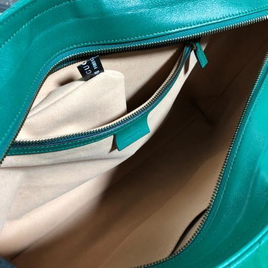 Gucci 524578 GG Marmont Matelassé Shoulder Bag Green - luxibagsmall
