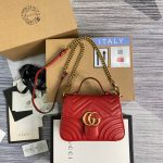 Gucci 547260 GG Marmont Mini Top Handle Bag Red - luxibagsmall