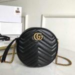 gucci 550154 gg marmont mini round shoulder bag 28