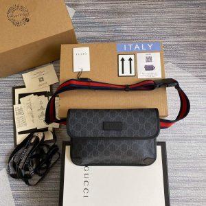 gucci 598113 ophidia gg black belt bag 0
