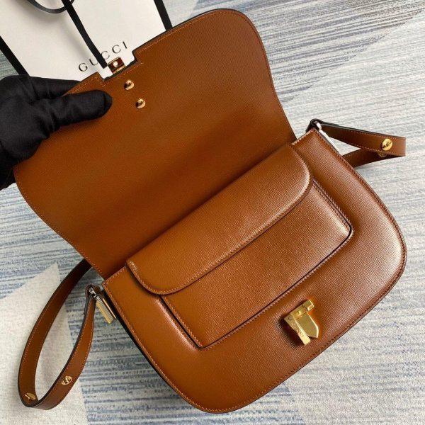 Gucci 601067 Sylvie 1969 Small Shoulder Bag Brown - luxibagsmall