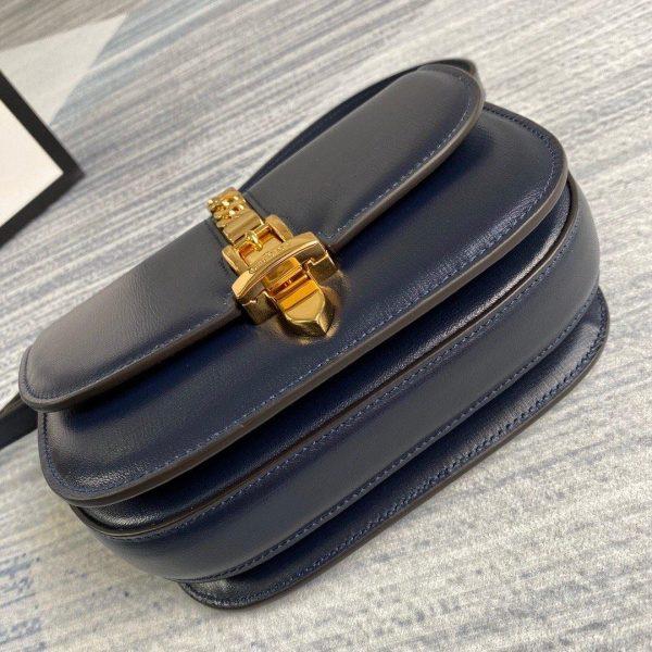 Gucci 615965 Sylvie 1969 flap mini shoulder bag Navy blue - luxibagsmall