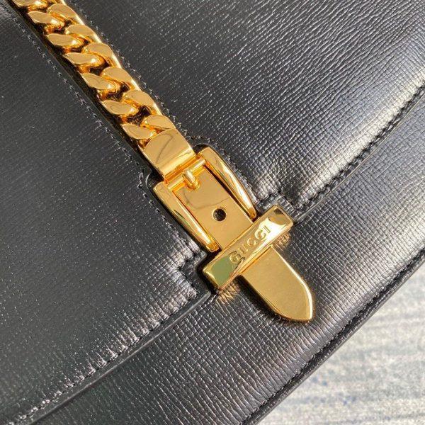 Gucci 601067 Sylvie 1969 Small Shoulder Bag Black - luxibagsmall