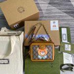 Gucci 602576 Ophidia GG KAI Mini Shoulder Bag Tan - luxibagsmall