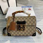 gucci 603221 padlock gg small bamboo shoulder bag 19