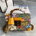 gucci 603221 padlock gg small bamboo shoulder bag 28
