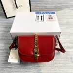 Gucci 615965 Sylvie 1969 Flap Mini Shoulder Bag Red - luxibagsmall