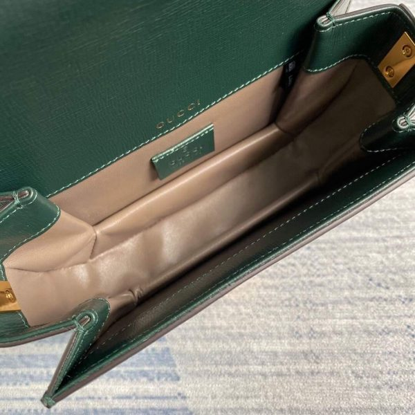 Gucci 615965 Sylvie 1969 Flap Mini Shoulder Bag Green - luxibagsmall