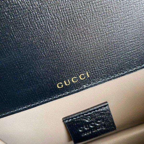 Gucci 615965 Sylvie 1969 Flap Mini Shoulder Bag Black - luxibagsmall