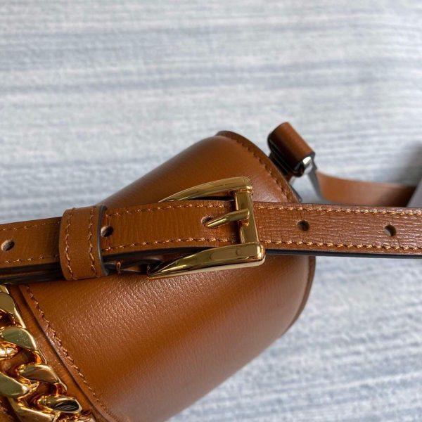 Gucci 615965 Sylvie 1969 Flap Mini Shoulder Bag Brown - luxibagsmall