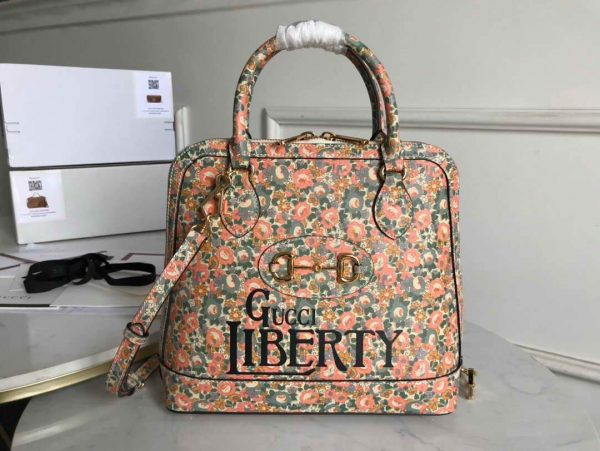 Gucci 620850 GG Horsebit 1955 Top Handle Bag Printing Liberty - luxibagsmall