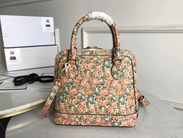 Gucci 621220 GG Horsebit 1955 Small Top Handle Bag Printing Liberty - luxibagsmall